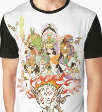 Okami Fanart Graphic T-Shirt