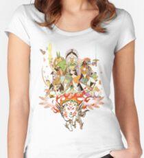 Okami Fanart Women's Fitted Scoop T-Shirt