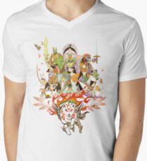 Okami Fanart Men's V-Neck T-Shirt