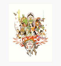 Okami Fanart Art Print