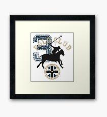 3 Polo Club Framed Print