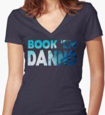 Book 'Em Danno Women's Fitted V-Neck T-Shirt