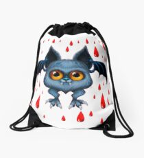 Halloween Bat Drawstring Bag