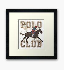 Polo Club Sports Framed Print