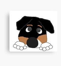 entlebucher mountain dog peeking Canvas Print
