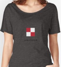 Nautical Flag: Uniform Women's Relaxed Fit T-Shirt