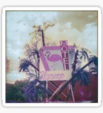 motel flamingo Sticker