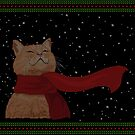 Tabby loves Snow (Knitted-version) by . VectorInk