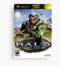 Halo game cover Canvas Print
