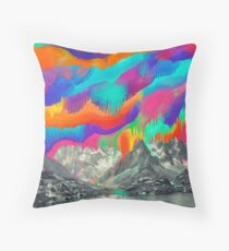 Skyfall, Melting Northern Lights Throw Pillow