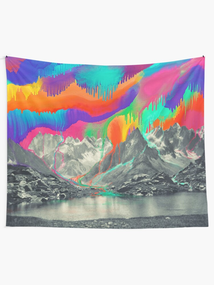 Alternate view of Skyfall, Melting Northern Lights Wall Tapestry