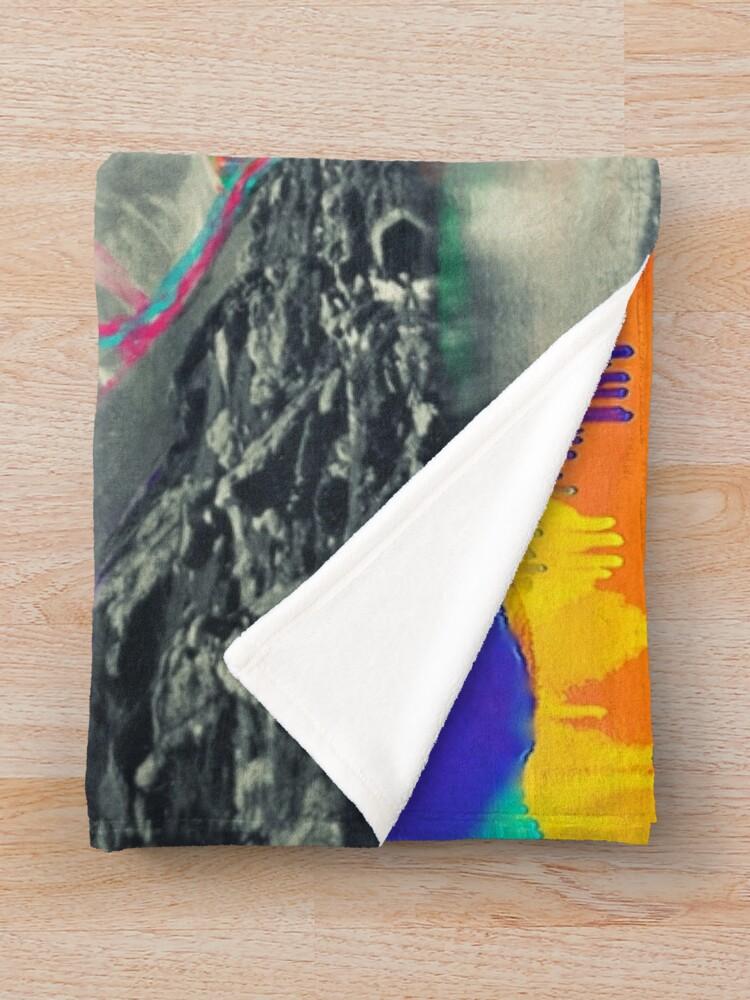 Alternative Ansicht von Skyfall, schmelzende Nordlichter Fleecedecke