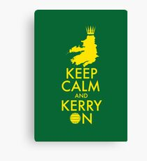 Keep Calm and Kerry On Canvas Print