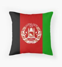 Afghanistan Flag Products Throw Pillow