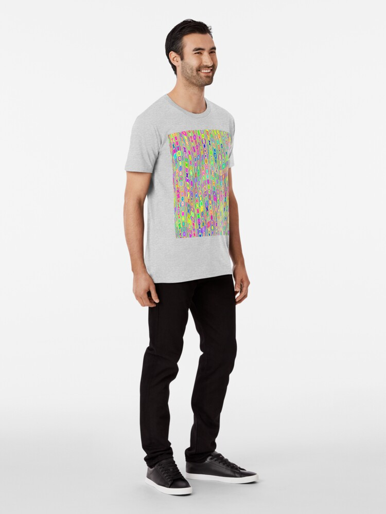 Alternate view of Abstract Meadow Premium T-Shirt