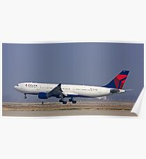 Commercial Jet Landing Poster