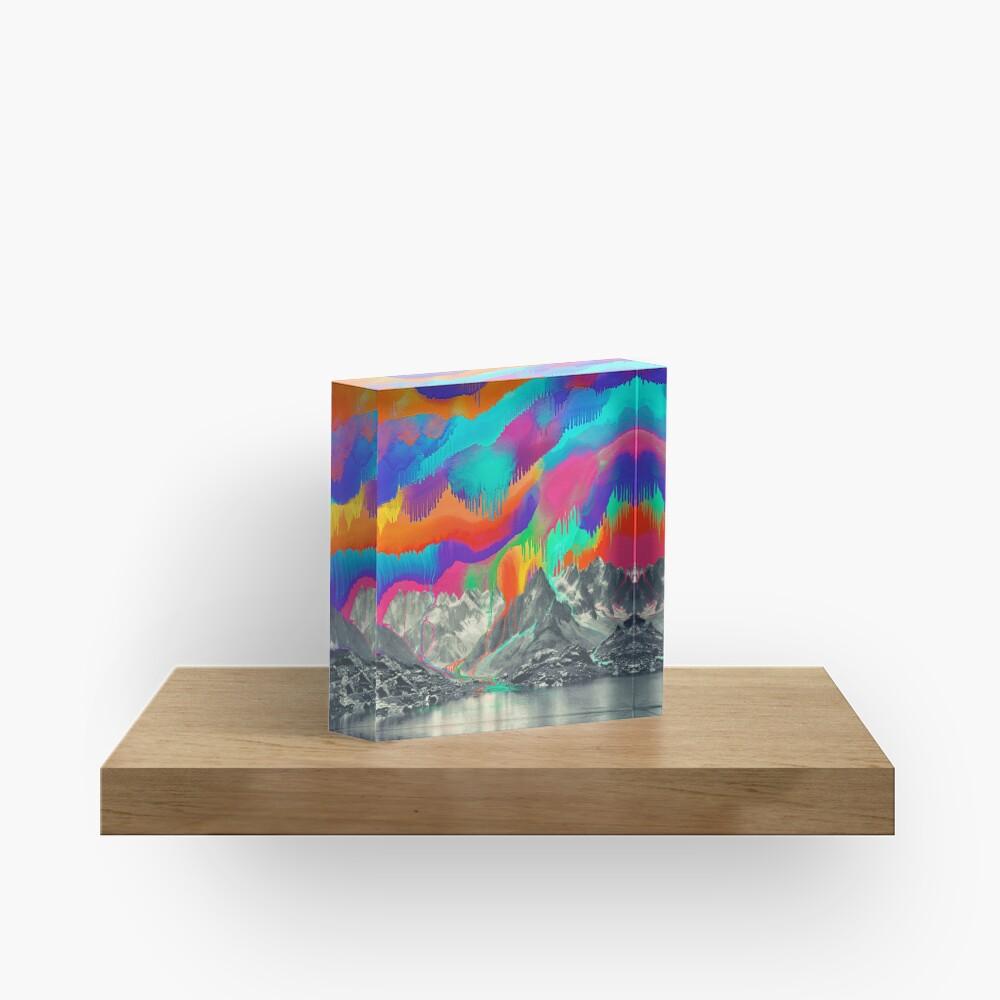 Skyfall, Melting Northern Lights Acrylic Block