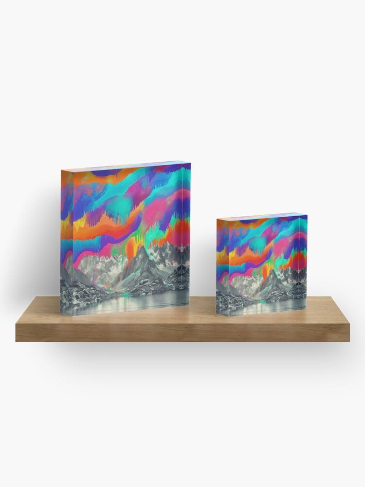Alternate view of Skyfall, Melting Northern Lights Acrylic Block