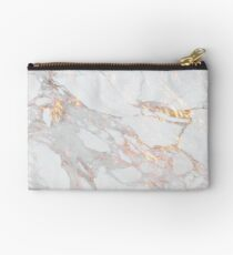Chic Elegant Gold Marble Pattern Zipper Pouch