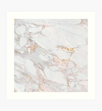 Schickes elegantes Goldmarmor-Muster Kunstdruck