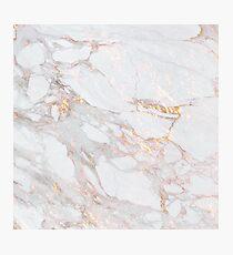 Chic Elegant Gold Marble Pattern Photographic Print