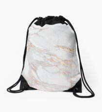 Chic Elegant Gold Marble Pattern Drawstring Bag