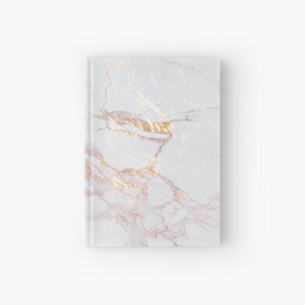 Chic Elegant Gold Marble Pattern Hardcover Journal