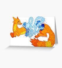 Pastel Gore Fox Greeting Card