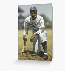 Jackie Robinson (Dodgers) Greeting Card