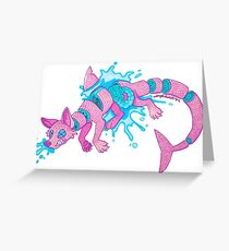 Pastel Gore Sushi Dog Greeting Card