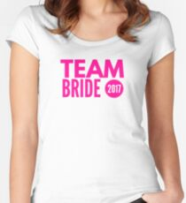 Team bride 2017 Women's Fitted Scoop T-Shirt
