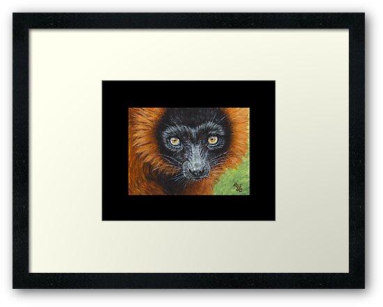 Lemur #5 by artbyakiko