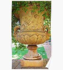 mid-1800 vase/planter Poster