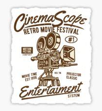 Retro Movie Festival Sticker