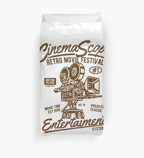 Retro Movie Festival Duvet Cover