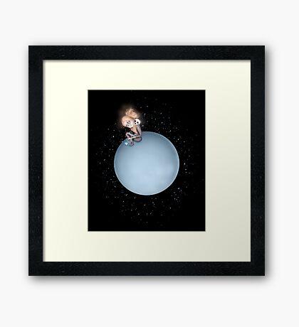 Lost in a Space / Uranusia Framed Print