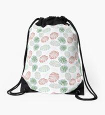 MONSTERA LEAVES Drawstring Bag
