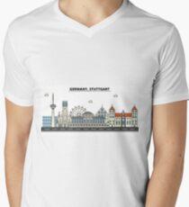 Germany, Stuttgart City Skyline Design T-Shirt