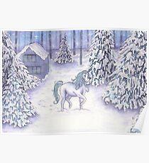 Enchanted Christmas Unicorn  Poster