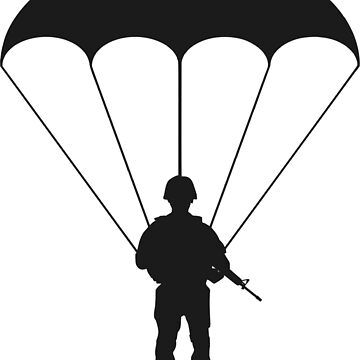 Paratrooper Silhouette. by Claudiocmb