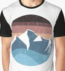 mountain souvenir logo vintage Graphic T-Shirt
