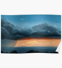 Storms and Sunsets Poster
