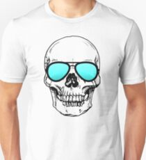 Too Cool for School Skull  T-Shirt