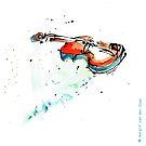 Violin drawn with feather by ArtyMargit