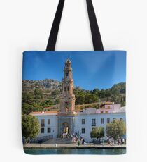 The Monastery on Symi Tote Bag