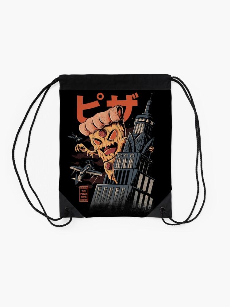 Alternate view of Pizza Kong Drawstring Bag
