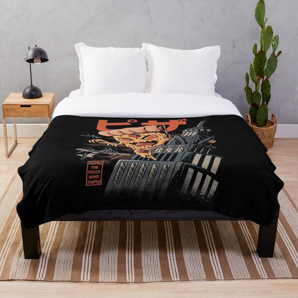 Pizza Kong Throw Blanket