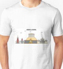 Greece, Athens City Skyline Design T-Shirt