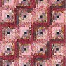 Victorian Rose Log Cabin Quilt by Jean Gregory  Evans
