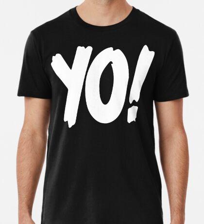 Yo! mtv raps replica logo 1993 era WHITE Premium T-Shirt